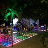pista iluminada para eventos