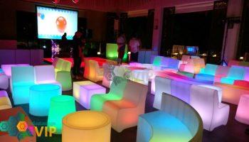 salas lounge iluminadas para eventos