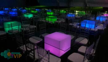 Mesas Banqueteras Iluminadas