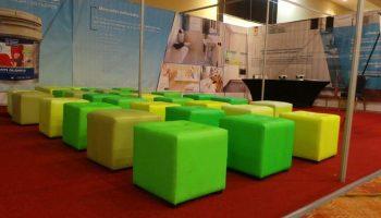sala lounge verde para eventos